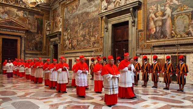 La conservación de la tradición es obvia en el Vaticano