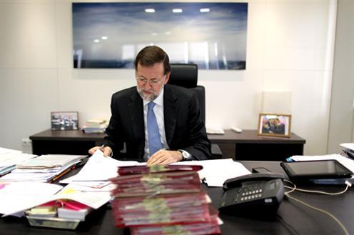 Rajoy en su desapacho de ¿Moncloa?