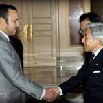 El Rey Mohammed saluda a Akihito